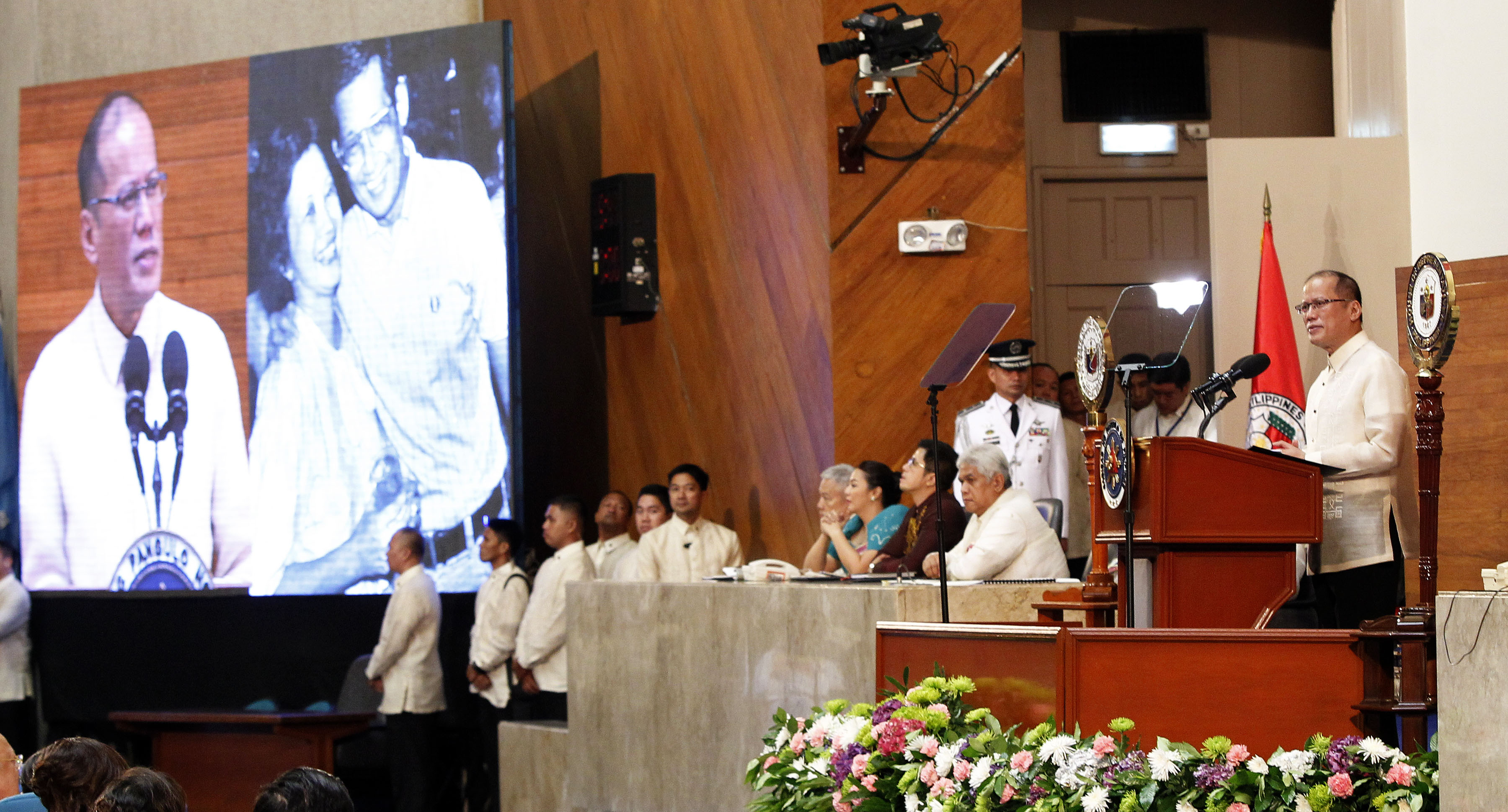 sona of pnoy On july 26, 2010, at the batasang pambansa, in quezon city, aquino.