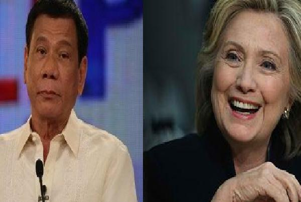 Image result for hillary clinton to duterte
