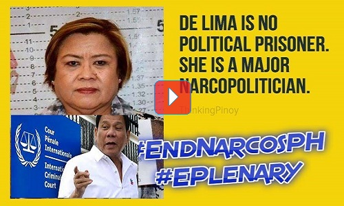 Why Does the EU Parliament Defends De Lima, the Jailed Illegal Drugs Trade Protector?